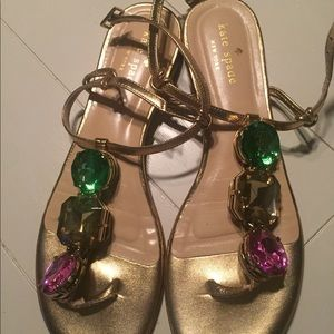 Kate spade jeweled sandals